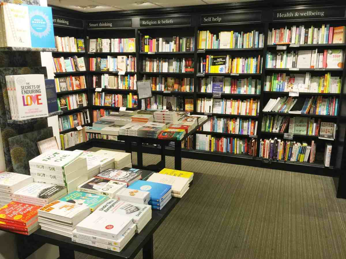 'The life-changing magic of tidying in the Self Help section of Waterstones