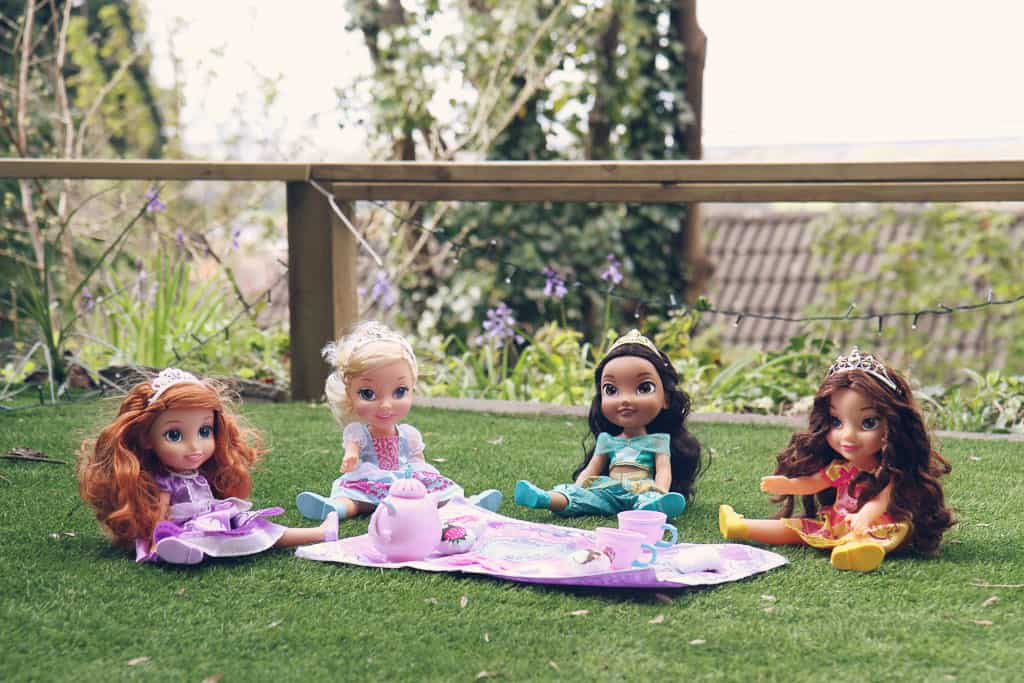 Disney Toddler Dolls, Princess Jasmine, Princess Sofia, Belle and Cinderella