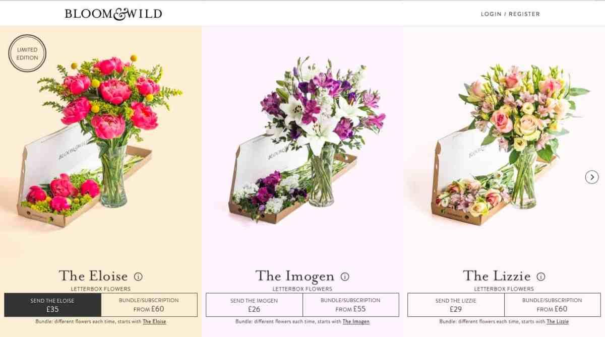ordering process bloom & wild