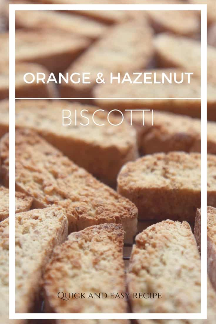 Step-by-step recipe for perfect every time, twice baked orange and hazelnut biscotti.