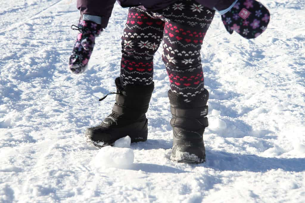 Muddy puddle snowboots in black