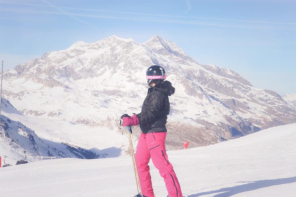 Getting ready to ski a green slope in Val d'Isere