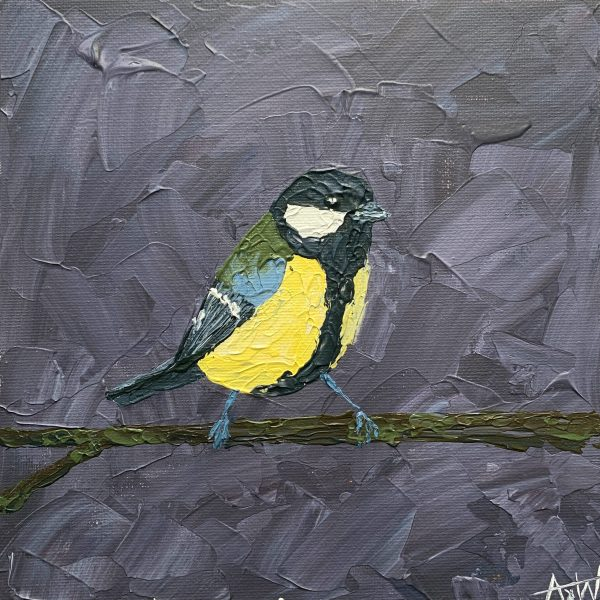 Great tit painting