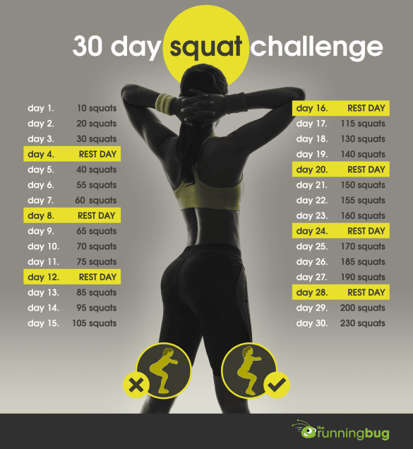 Squat Challenge #FitnessFriday