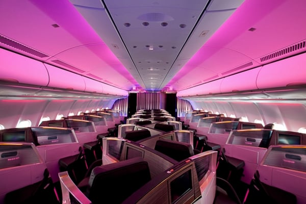 Virgin Atlantic is the pioneer in the fancy lighting space