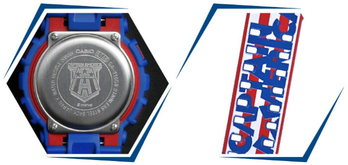 G Shock x Marvel Avengers Collection ga 110 captain america 1