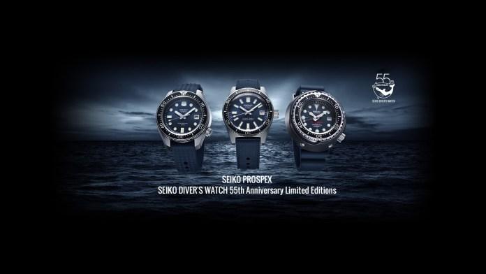 Seiko Diver's 55th Anniversary Trilogy