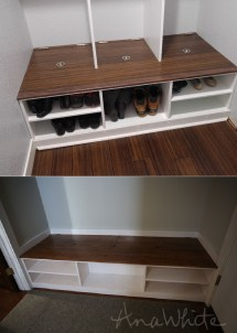 Ana White Closet-mudroom Conversion - Diy Projects