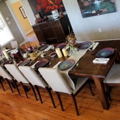 White Farmhouse Kitchen Table And Chairs Posture Care Chair Adelaide Ana Super Big Dining Bench Diy Projects
