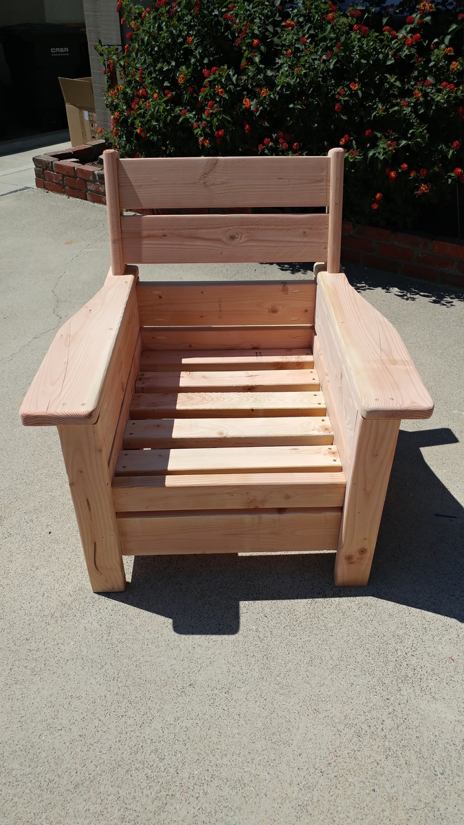 Ana White  Modern Outdoor Chair with a twist  DIY Projects