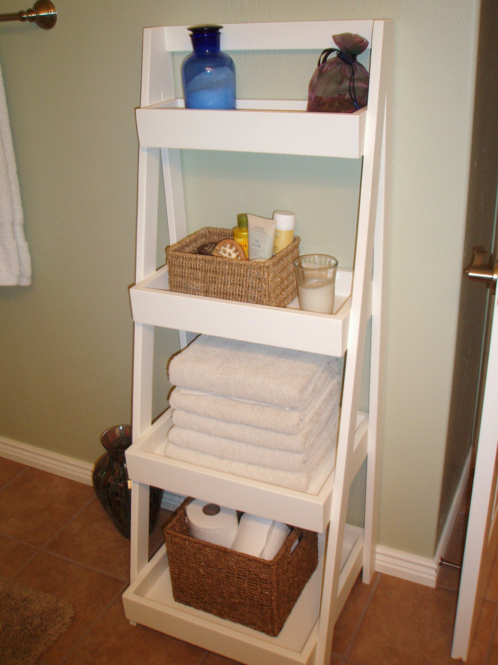 Ana White  Our new Ladder Shelf  DIY Projects