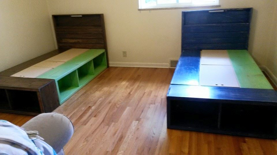 Ana White Twin Captains Beds For Twins DIY Projects