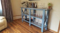 "Ana White | Rustic X TV Console modified to 42"" Dry Bar ..."