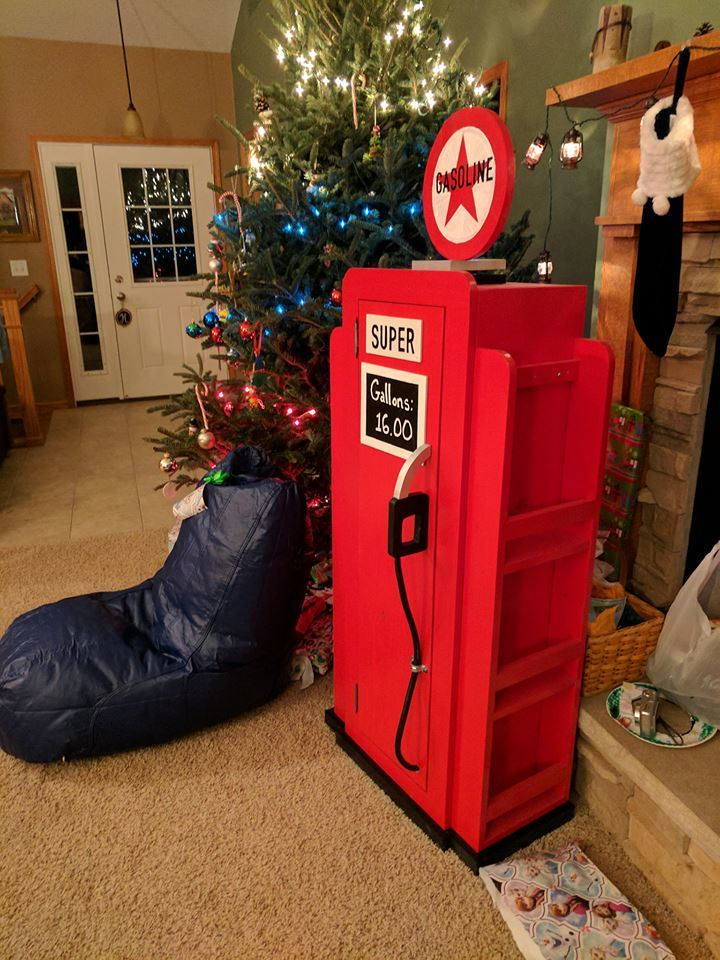 Ana White  Gas pump bookshelf Christmas present  DIY