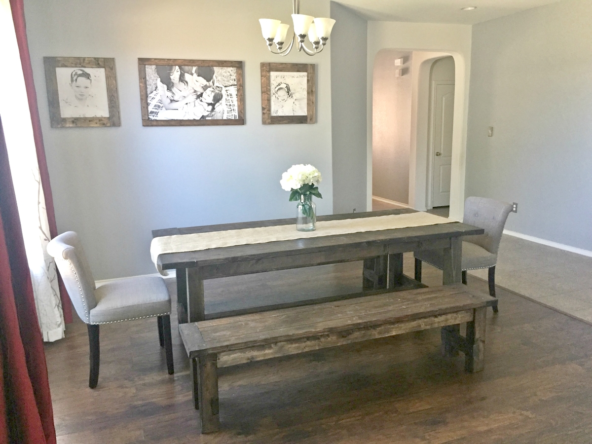 Ana White Farmhouse Dining Room Table With Benches DIY Projects