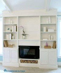 Ana White | Bookcase Built-ins with Fireplace Insert ...