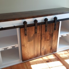 Farmhouse Style Kitchen Islands Table With Rolling Chairs Ana White | Sliding Barndoor Console Sideboard - Diy Projects