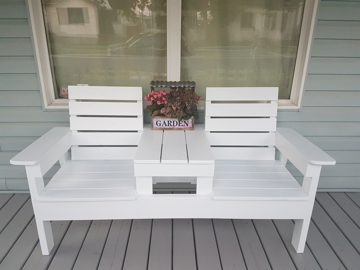 Ana White Diy Double Chair Bench With Table Diy Projects