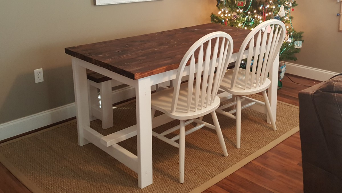 Ana White Afternoon Farmhouse Table Build DIY Projects