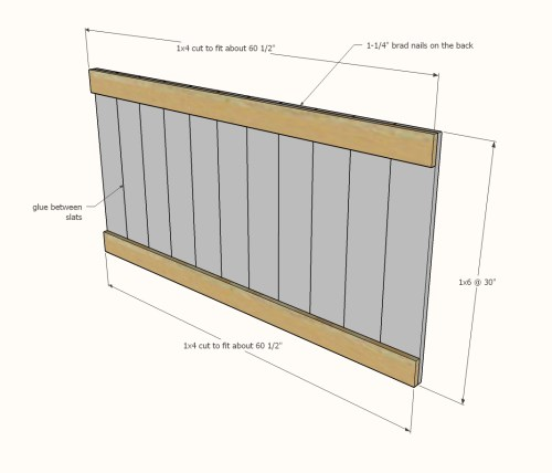 small resolution of diagram showing the headboard panel pieces