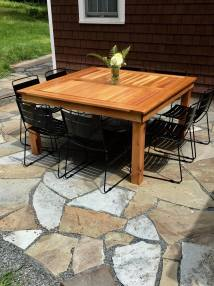 Ana White Simple Square Outdoor Table - Diy Projects