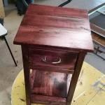 Mini Farmhouse Bedside Table W Hidden Compartment Ana White