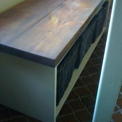 Benches For Kitchen Table Best Countertops Kitchens Ana White Storage Bench Diy Projects