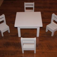 American Doll Chair Bowl Ikea Ana White Claras Table And 4 Stackable Chairs Sized For 18 Dolls Diy Projects