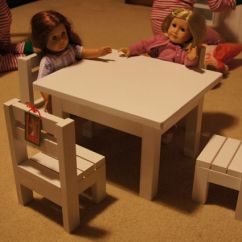 American Doll Chair Dining Room Set Of 4 Ana White Claras Table And Stackable Chairs Sized For 18 Dolls