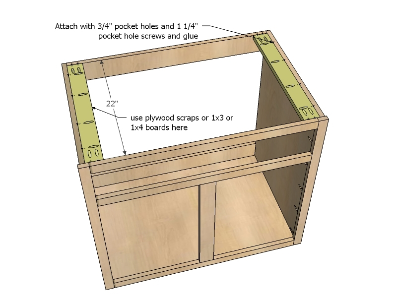 kitchen sink base cabinet sizes utencils ana white 36 full overlay face frame diy projects