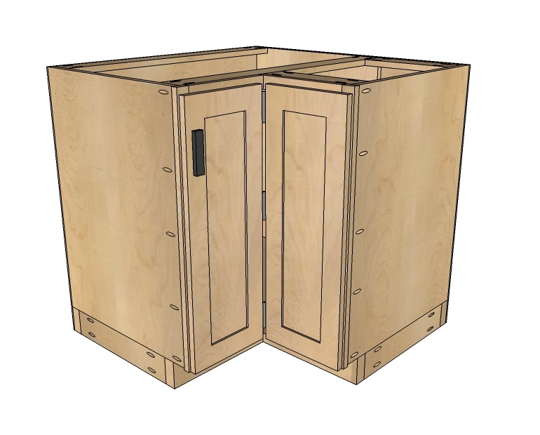 how to make kitchen cabinets rustic outdoor ana white 36 corner base easy reach cabinet basic model build