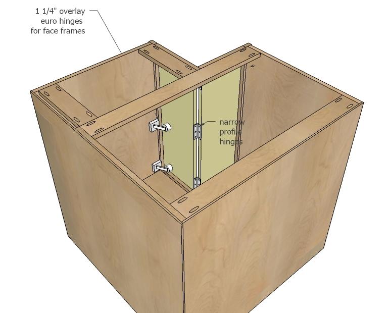 "Ana White 36"" Corner Base Easy Reach Kitchen Cabinet Basic Model"