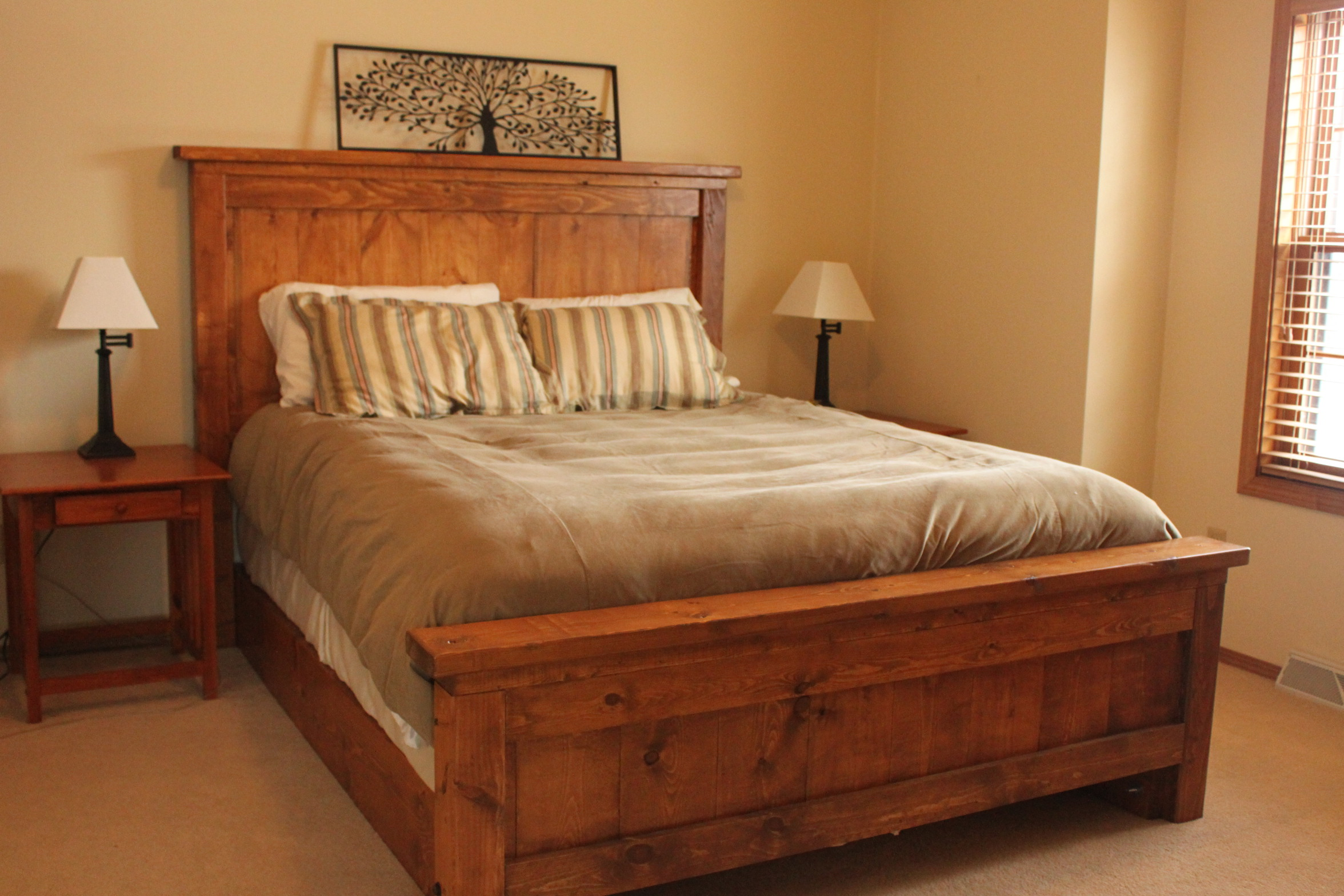 Ana White Our Farmhouse Bed DIY Projects