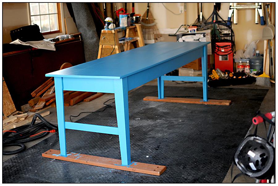 Ana White Narrow Farmhouse Table First Build EVER