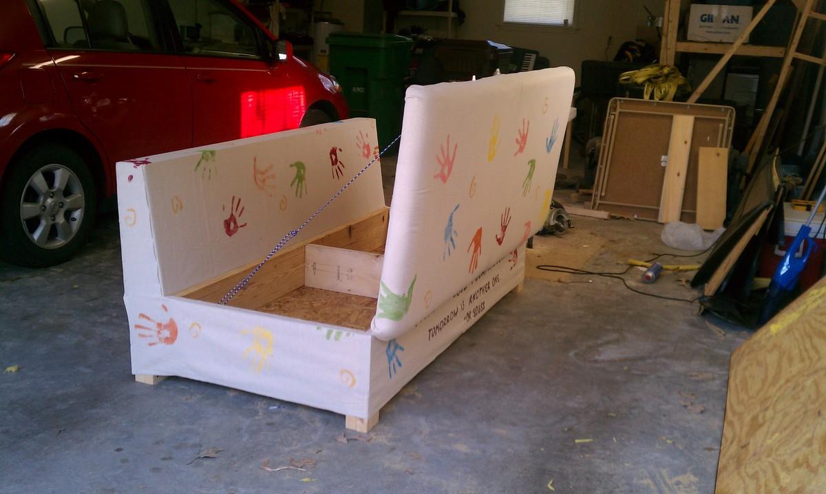 Ana White  My Storage Sofa  DIY Projects
