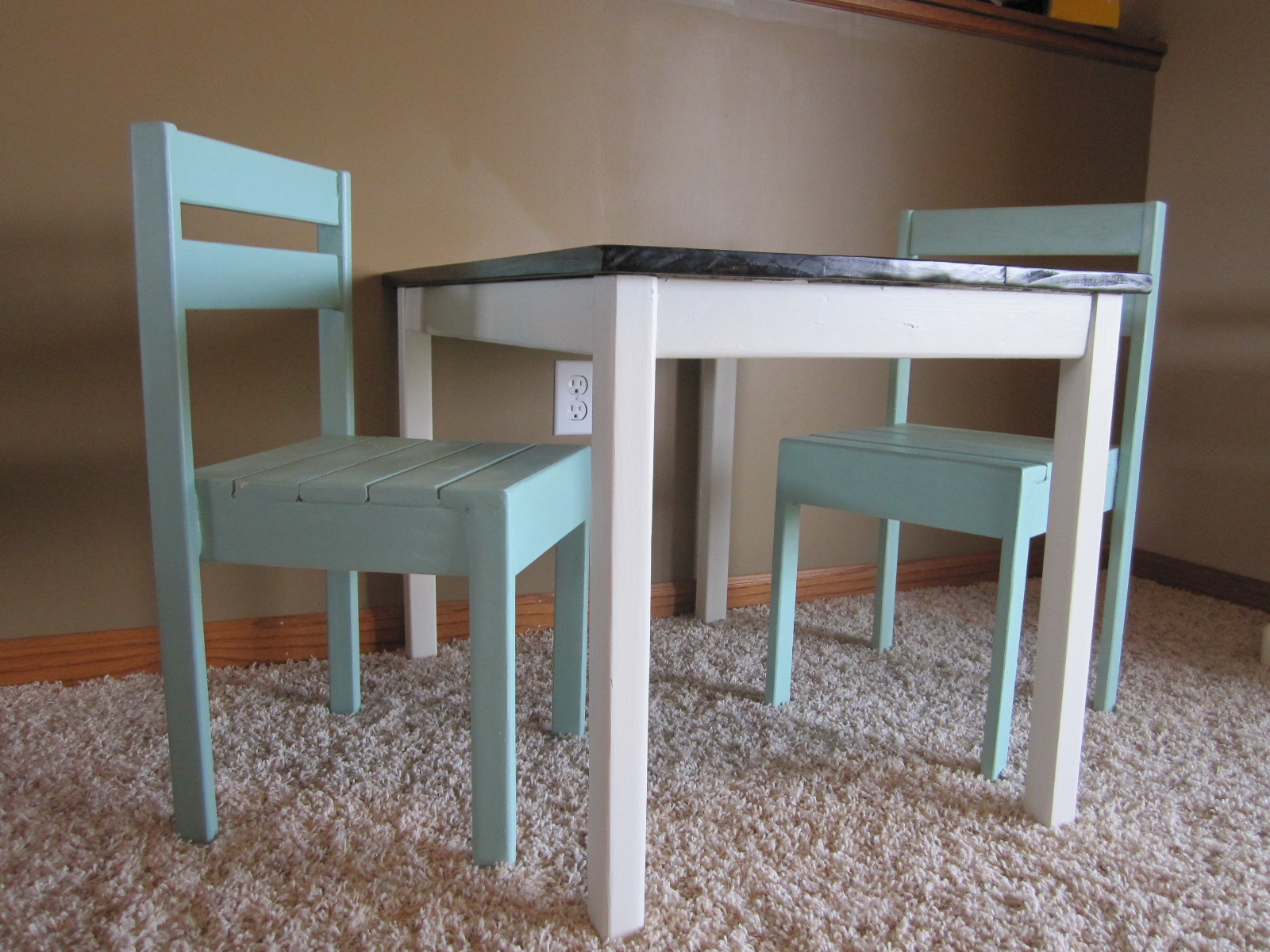play table and chairs bean bag chair refill beads ana white diy projects