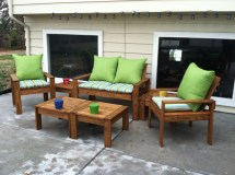 Ana White Simple Outdoor Conversation Set - Diy Projects
