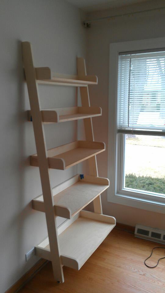 Ana White  Pottery Barn Studio Leaning Shelf  DIY Projects