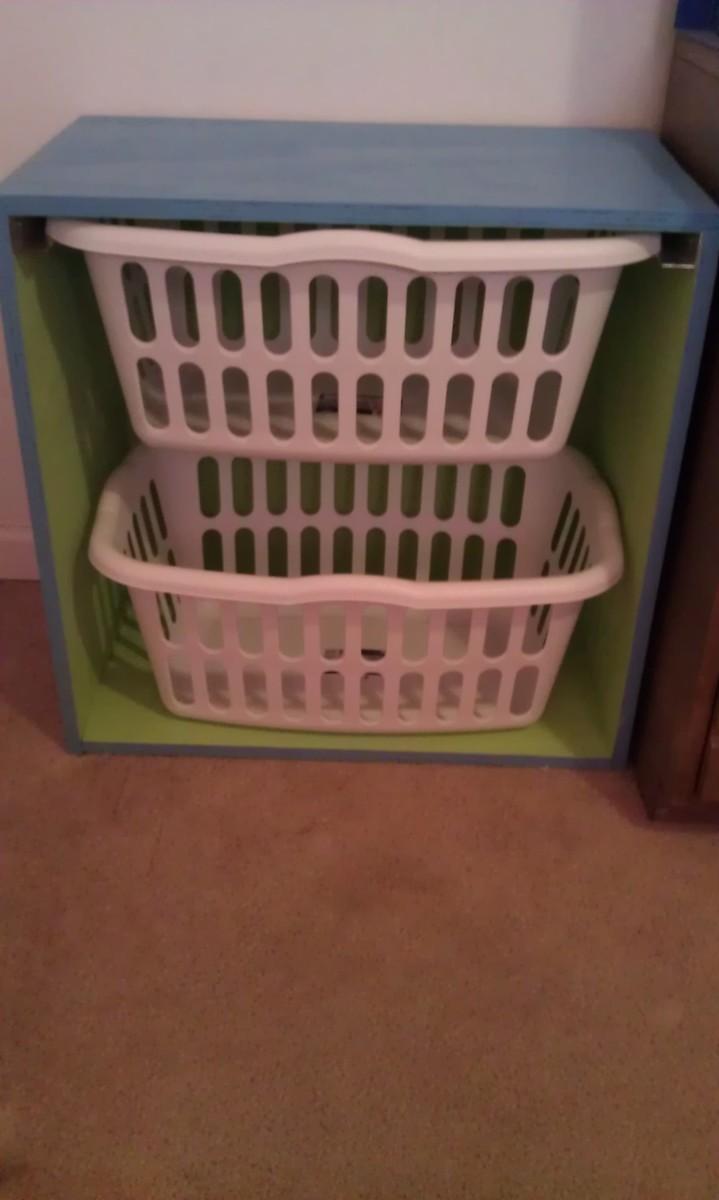 Ana White Mini Laundry Basket Dresser DIY Projects