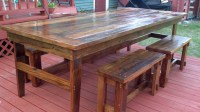 Ana White | Rustic Farm Table & Benches - DIY Projects
