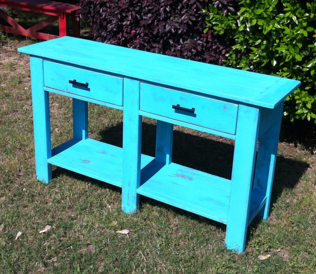 sofa table design plans what is the best quality sleeper ana white benchwright console diy projects