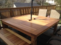 Ana White Simple Square Cedar Outdoor Dining Table - Diy