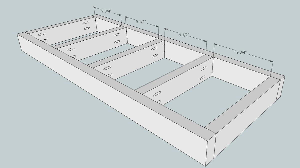 hight resolution of wood flower box diagram