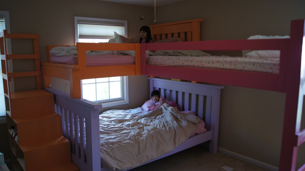 Ana White  Simple Bunk bed with a triple twist and cubby