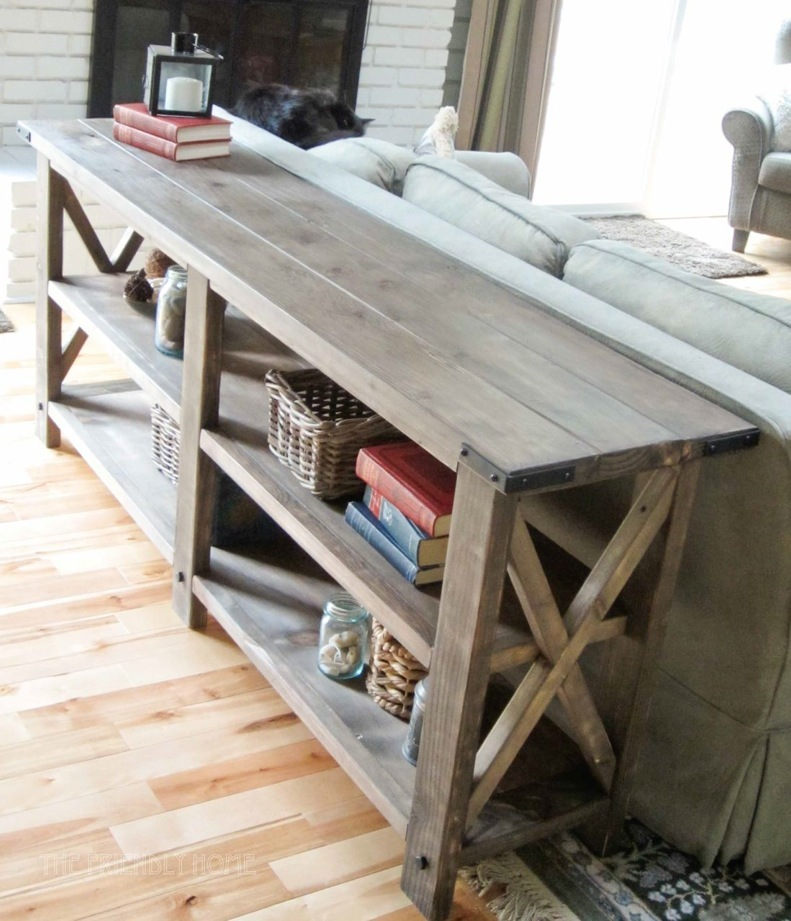 build a rustic sofa table sectional size ana white x console diy projects