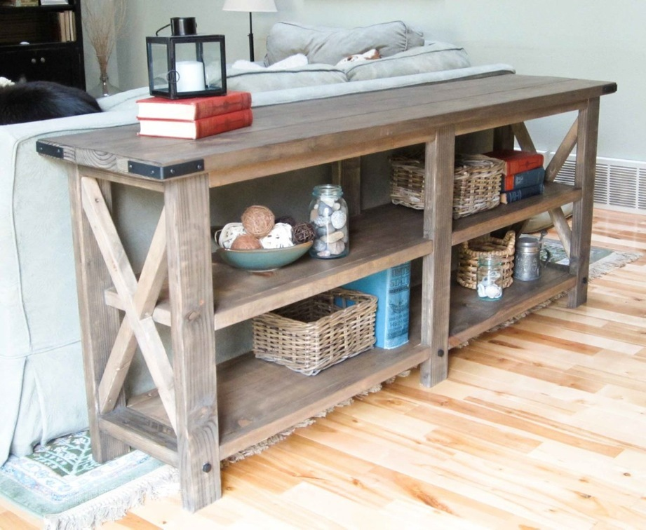 build a rustic sofa table natalia collection ana white x console diy projects