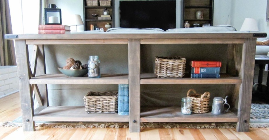 build a rustic sofa table stanley pune ana white x console diy projects