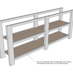 Sofa Table Design Plans Minimal Style Ana White Rustic X Console Diy Projects