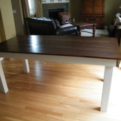 White Wood Kitchen Table Delta Addison Faucet Ana Rustic Diy Projects