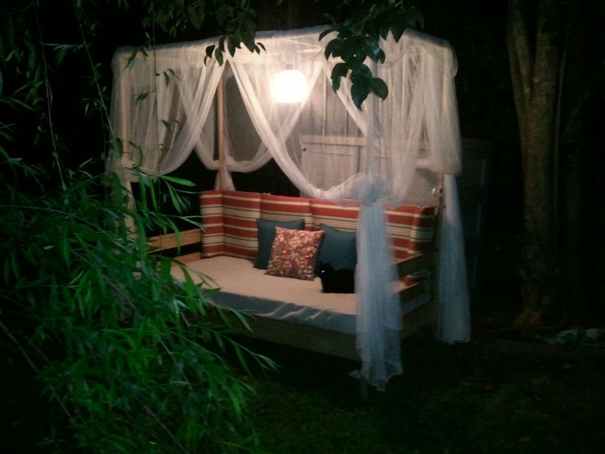 Ana White  Outdoor Canopy Daybed  DIY Projects